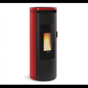 Amika pillebrændeovn på 8kW i rød (150m2)