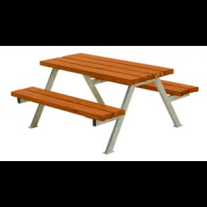 Alpha junior bord/bænkesæt i trykimprægneret teak lille