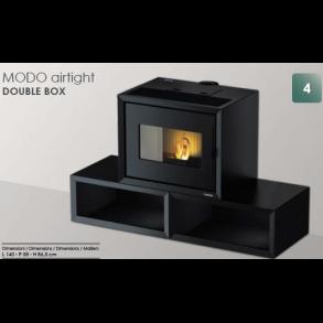 Modo Airtight Double Box pillebrændeovn på op til 9kW i sort (150m2)