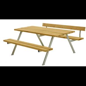 Alpha bord/bænkesæt i lærk stor med 1 ryglæn