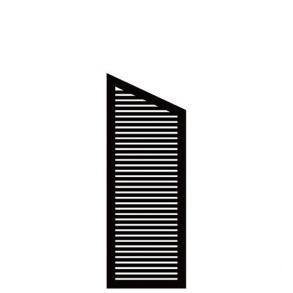 Silence skråelement i sort 64x140/110cm (BxH)