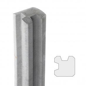 13x13 cm hjørnestolpe 150 cm over jord i antracit