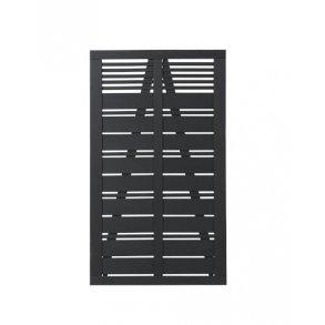 Silence enkeltlåge i sort 100x170cm (BxH)