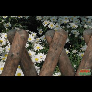 Jægerhegn i brunimprægneret 250x120cm (BxH)