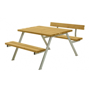 Alpha bord/bænkesæt i lærk lille med 1 ryglæn