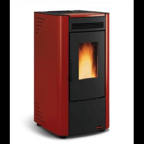 Ketty pillebrændeovn på 6kW i rød (120m2)