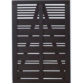 Silence enkeltlåge i trykimprægneret og sortfarvet 100x140cm (BxH)