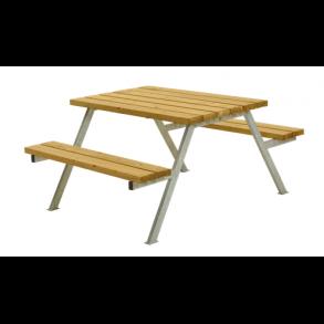 Alpha bord/bænkesæt i lærk lille