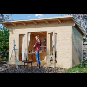 Ordrup havehus model 1 i ubehandlet på 8,75m2