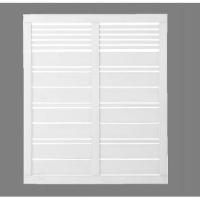 Silence hegn i hvid 120x140cm (BxH)