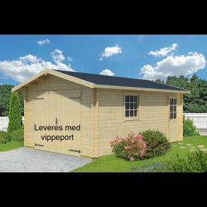 Aalborg enkelt garage på 18,7m2 med vippeport