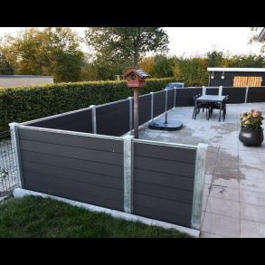 Nice Premium komposit hegn i mørk antracit 180x90cm (BxH)