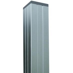 Aluminium stolpe 70x70mm i længde 272cm (4i1 stolpe)
