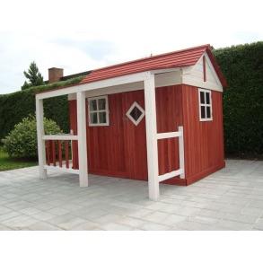 Ida legehus i rød og hvid