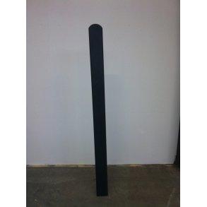 Omlimet sort stolpe 90x90mm i 208cm