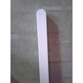 Omlimet hvid stolpe 90x90mm i 148cm