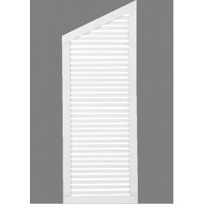 Silence skråelement i hvid 64x170/140cm (BxH)