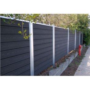 Nice Premium komposit hegn i mørk antracit 180x180cm (BxH)