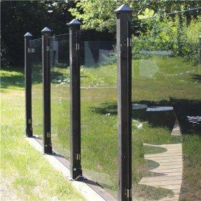 Glashegnstillægsmodul inkl. 1 stolpe, 1 stolpehat og beslag